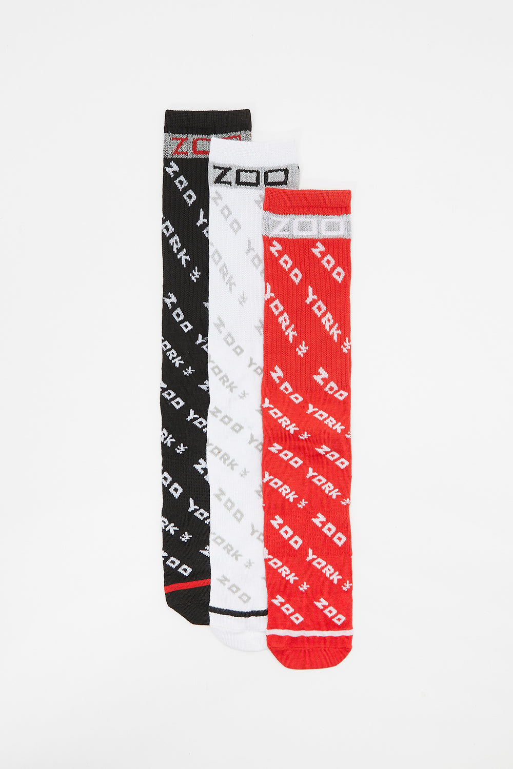 Zoo York Youth Reflective Crew Socks (3-Pack) Multi