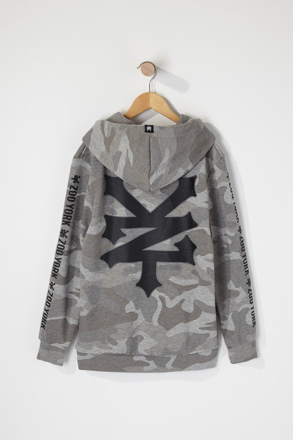 Zoo York Boys Camo Box Logo Hoodie Gingham