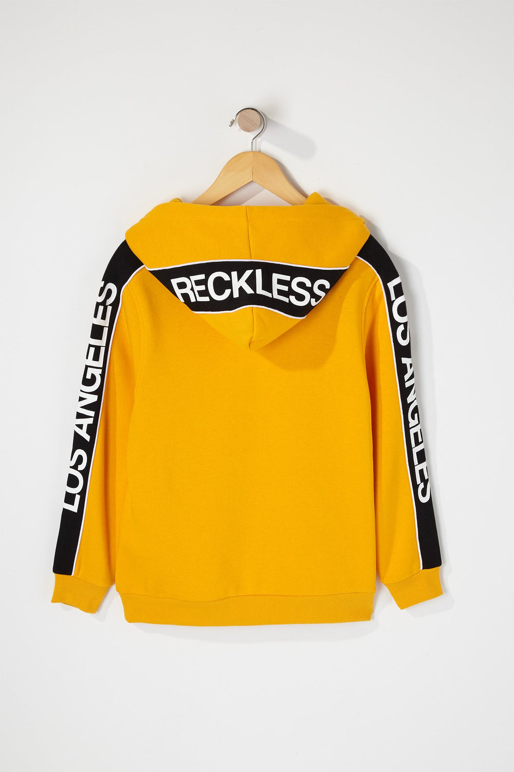 Young & Reckless Boys Los Angeles Side Tape Hoodie Yellow