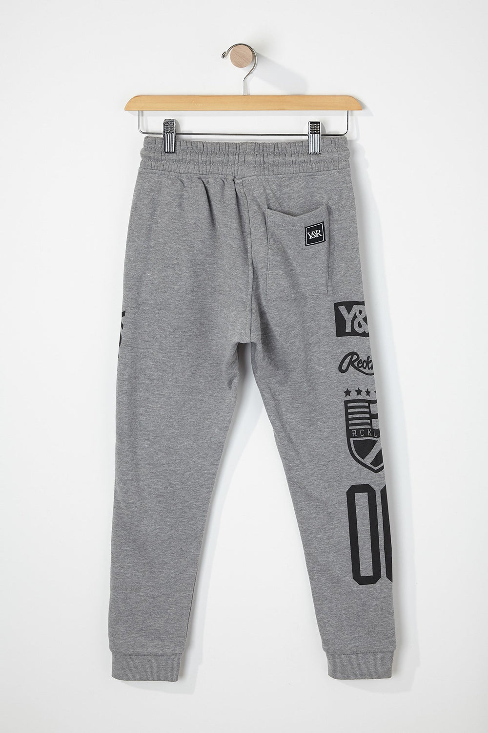 Pantalon Jogger Racing Young & Reckless Garçon Gris