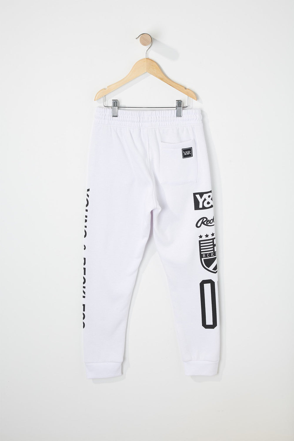 Pantalon Jogger Racing Young & Reckless Garçon Blanc