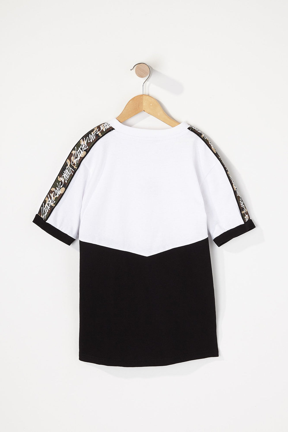 Young & Reckless Boys Camo Sleeve Tape T-Shirt White