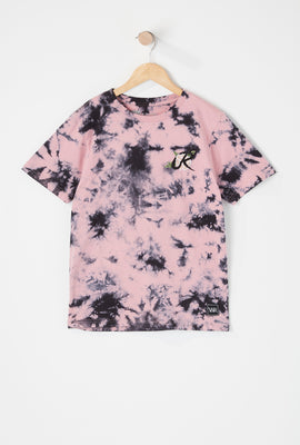 T-Shirt Tie-Dye Logo Rose Young & Reckless Junior