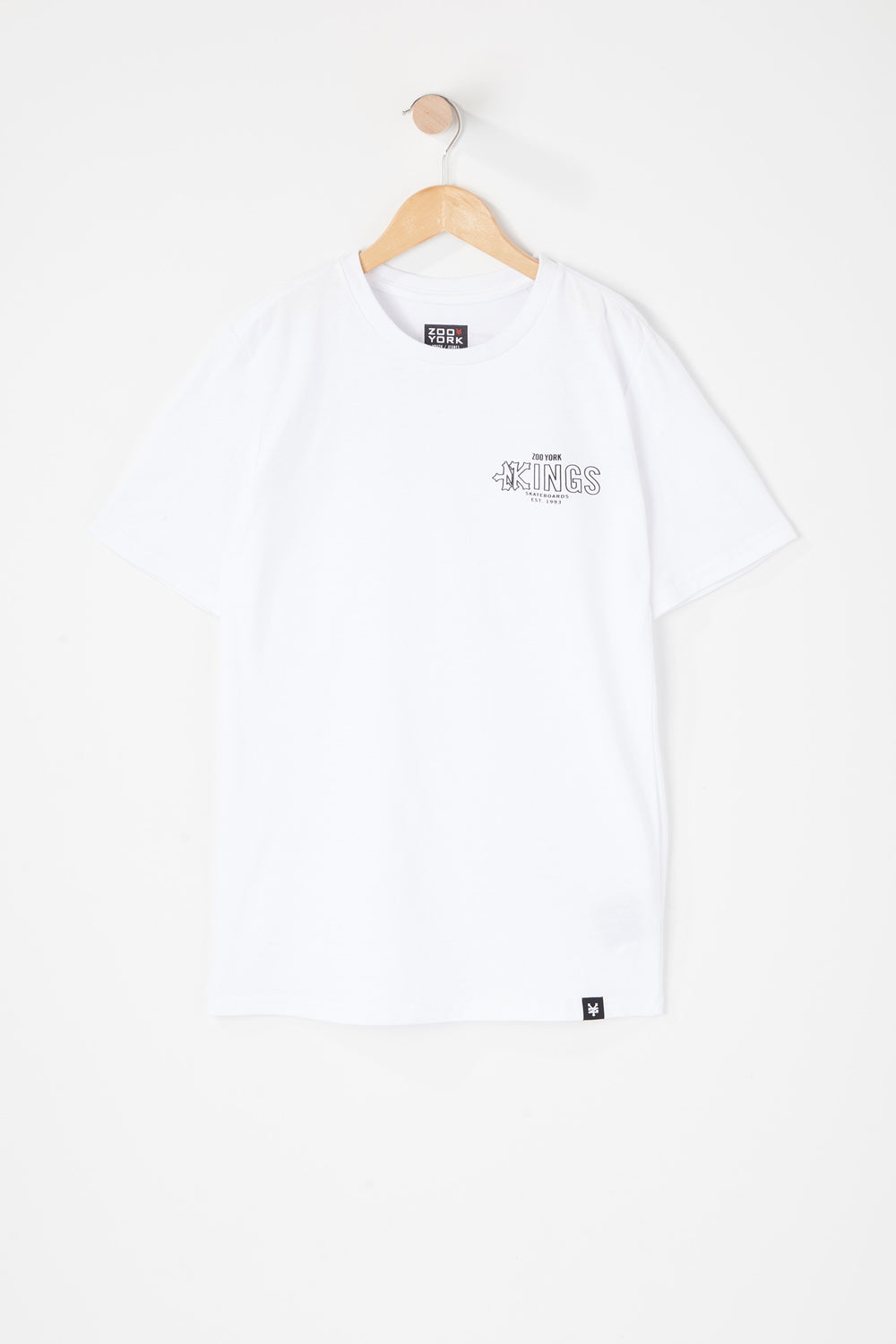 T-Shirt Kings Zoo York Junior Blanc