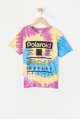 T-Shirt Tie-Dye Imprimé Polaroid Junior