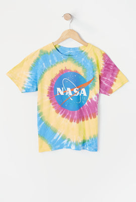 T-Shirt Tie-Dye Imprimé NASA Junior