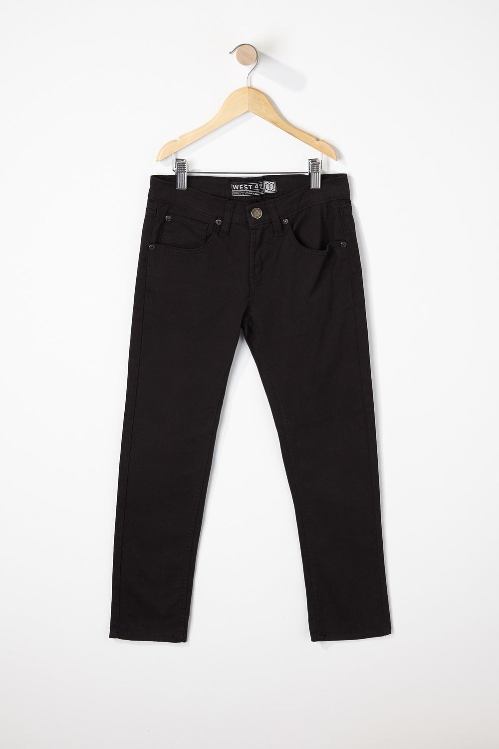 West49 Boys Solid Colour Skinny Pants Black