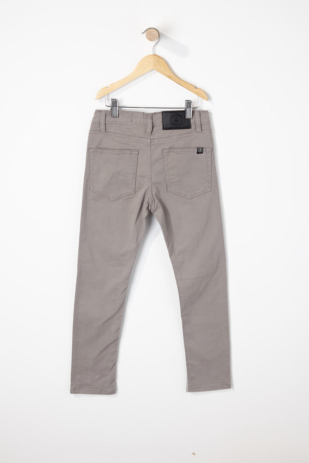 West49 Boys Solid Colour Skinny Pants Heather Grey