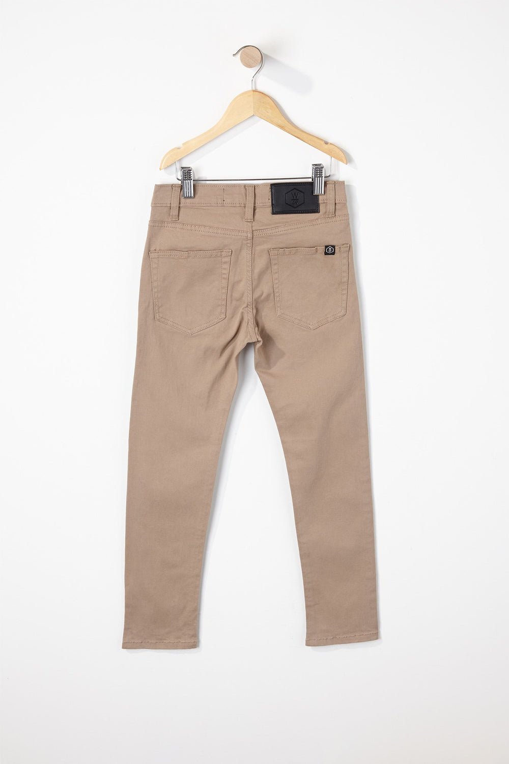 West49 Boys Solid Colour Skinny Pants Sand