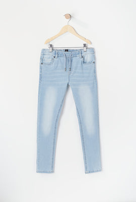 Youth Light Wash Jean Jogger