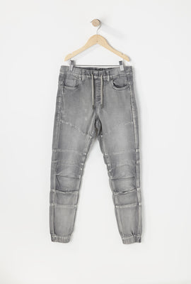 Jogger Jean Gris Clair Junior