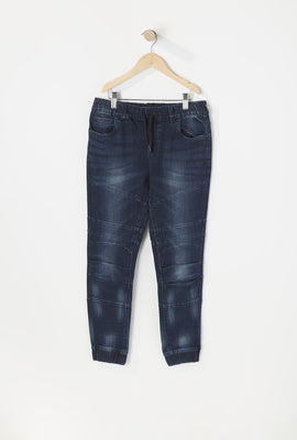 Youth Dark Blue Denim Jogger