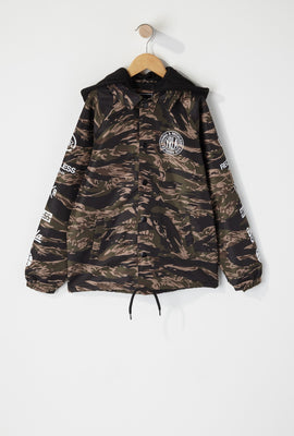 Young & Reckless Boys Camo Hooded Jacket