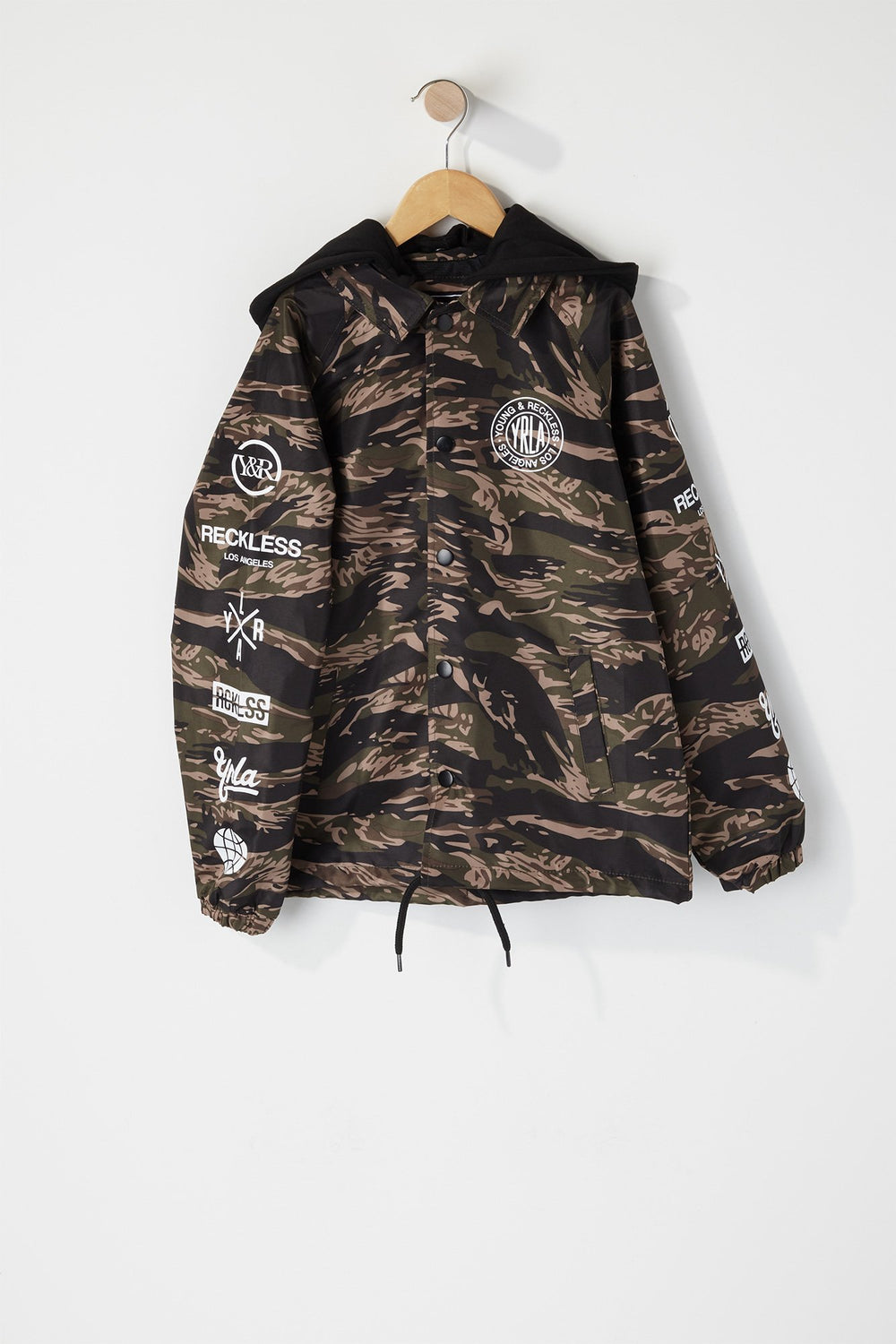 Young & Reckless Boys Camo Hooded Jacket Camouflage