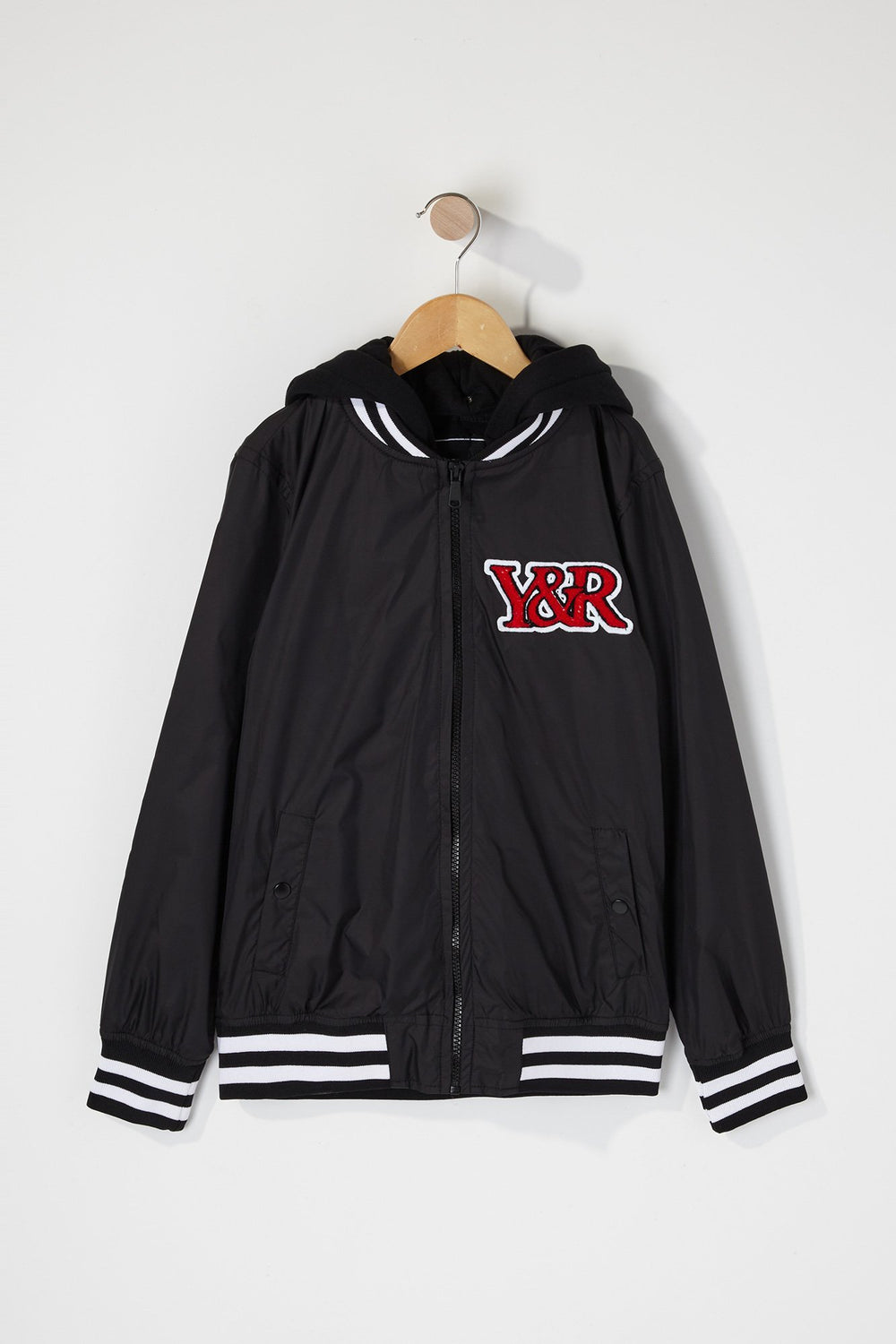 Young & Reckless Boys Bomber Logo Patch Jacket Black