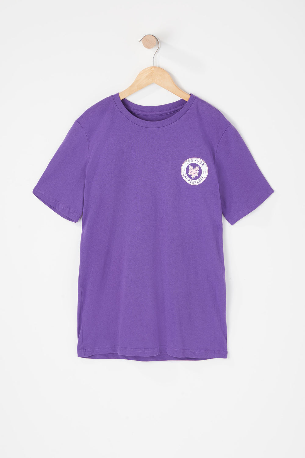 T-Shirt Logo Cercle Zoo York Junior Violet
