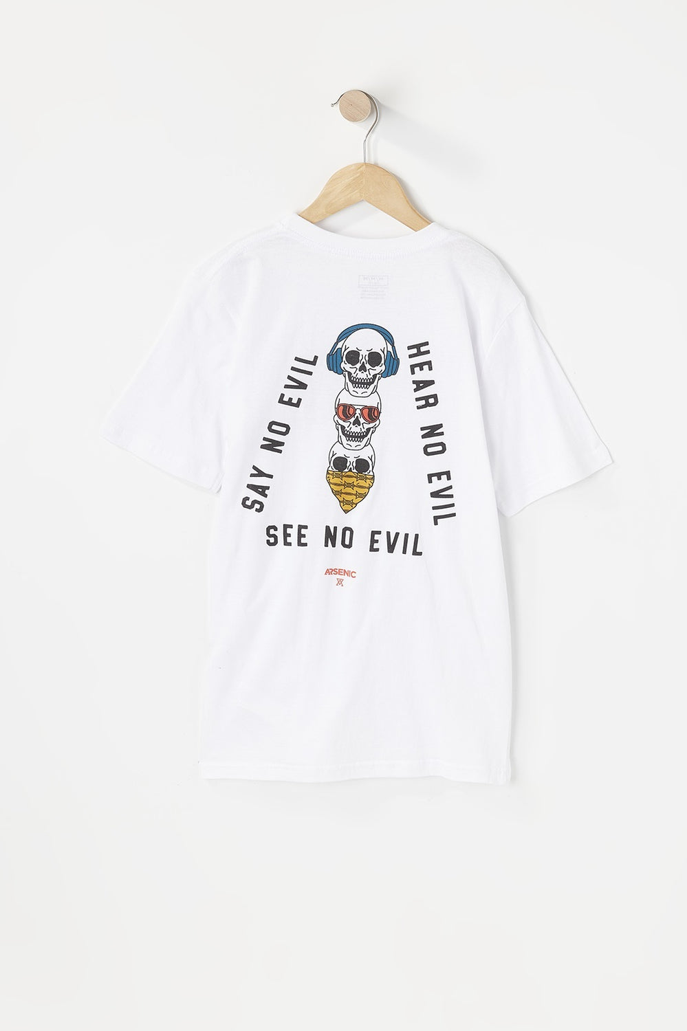 T-Shirt Imprimé No Evil Arsenic Junior Blanc