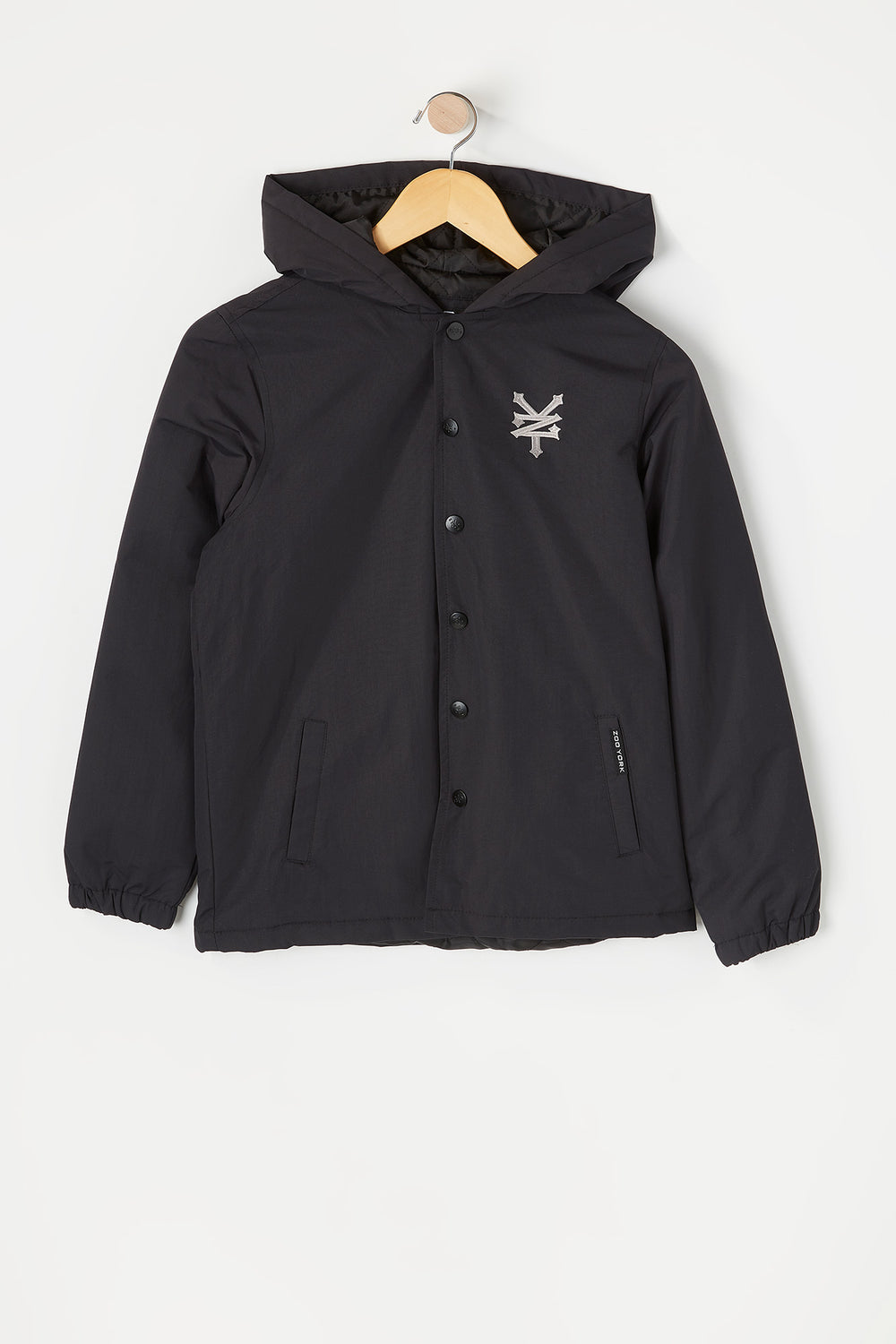 Zoo York Youth Hooded Coach Jacket Black