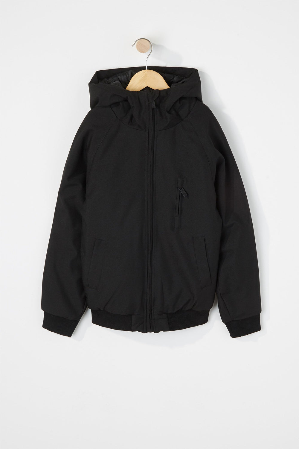 West49 Boys Medium Weight Hooded Jacket Black