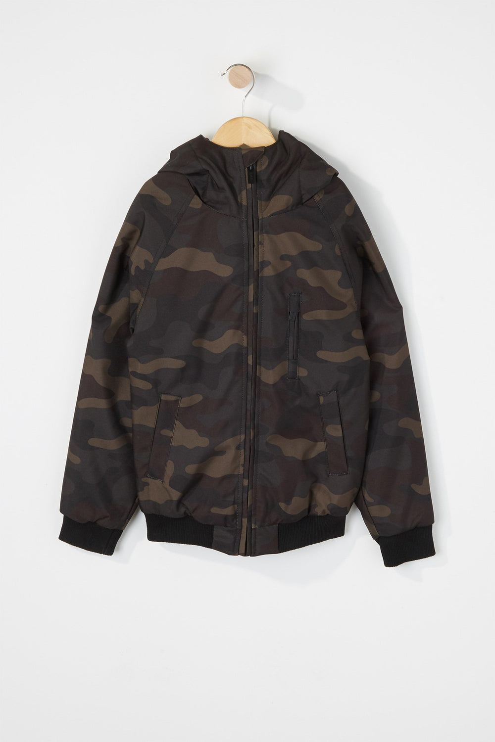 West49 Boys Medium Weight Hooded Jacket Camouflage