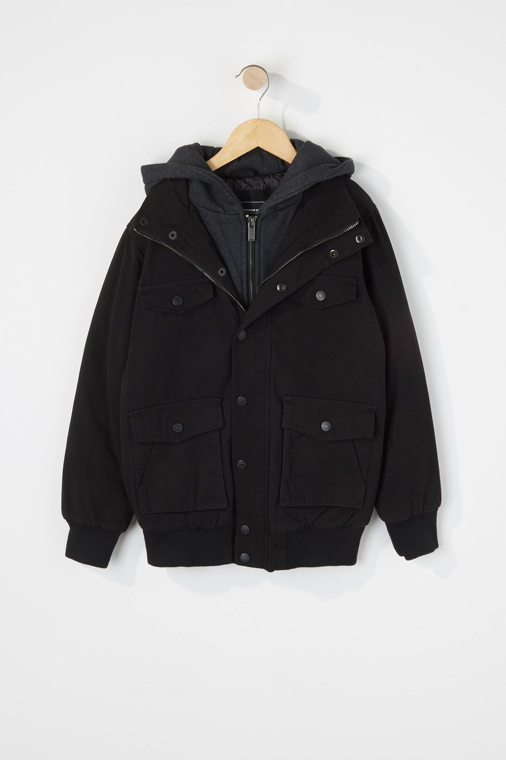 West49 Boys Hooded Jacket Black