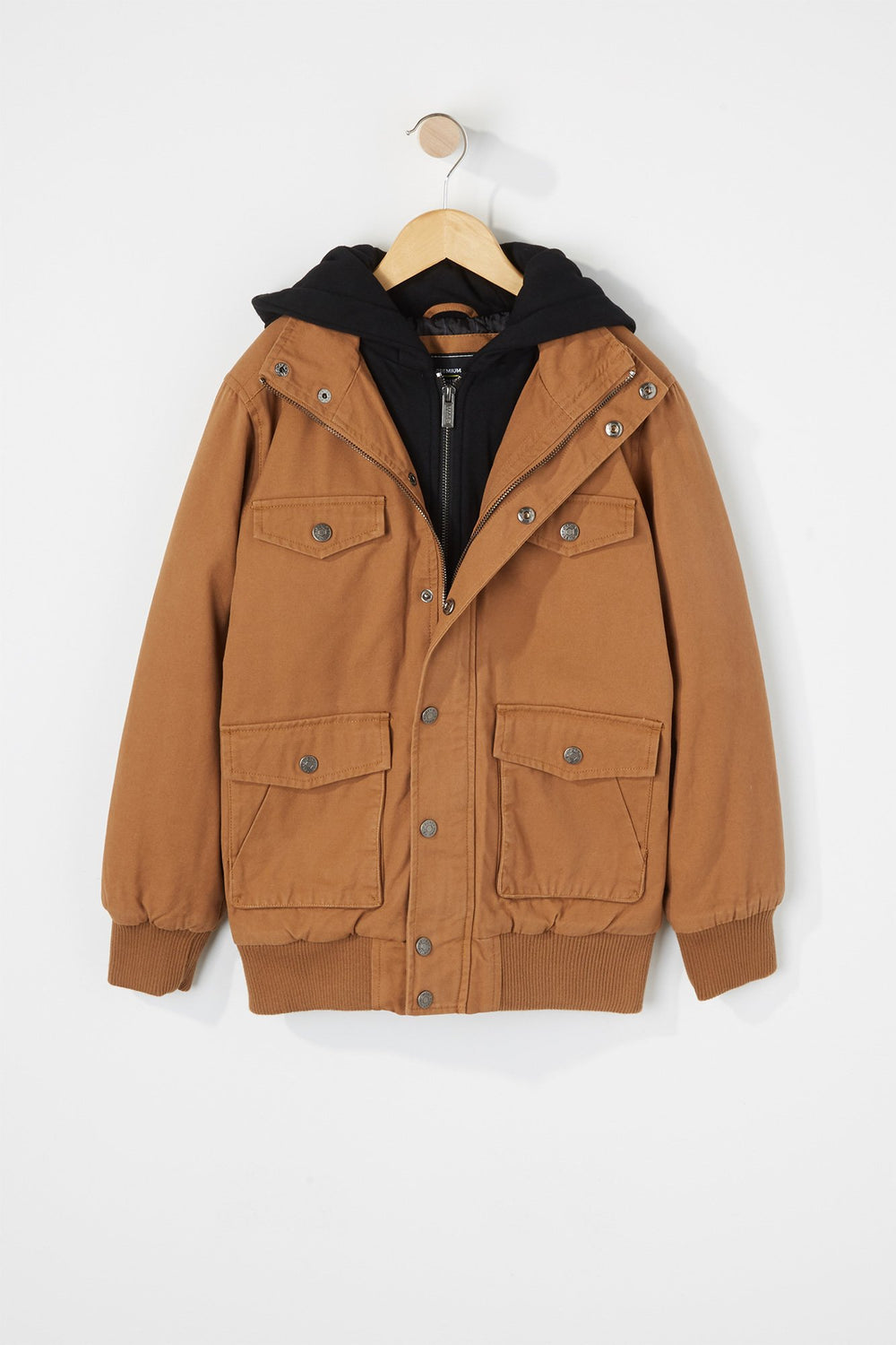 West49 Boys Hooded Jacket Tan