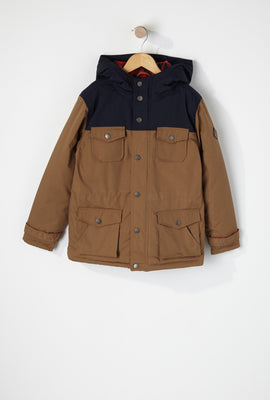 West49 Boys Colour Block 4-Pocket Parka