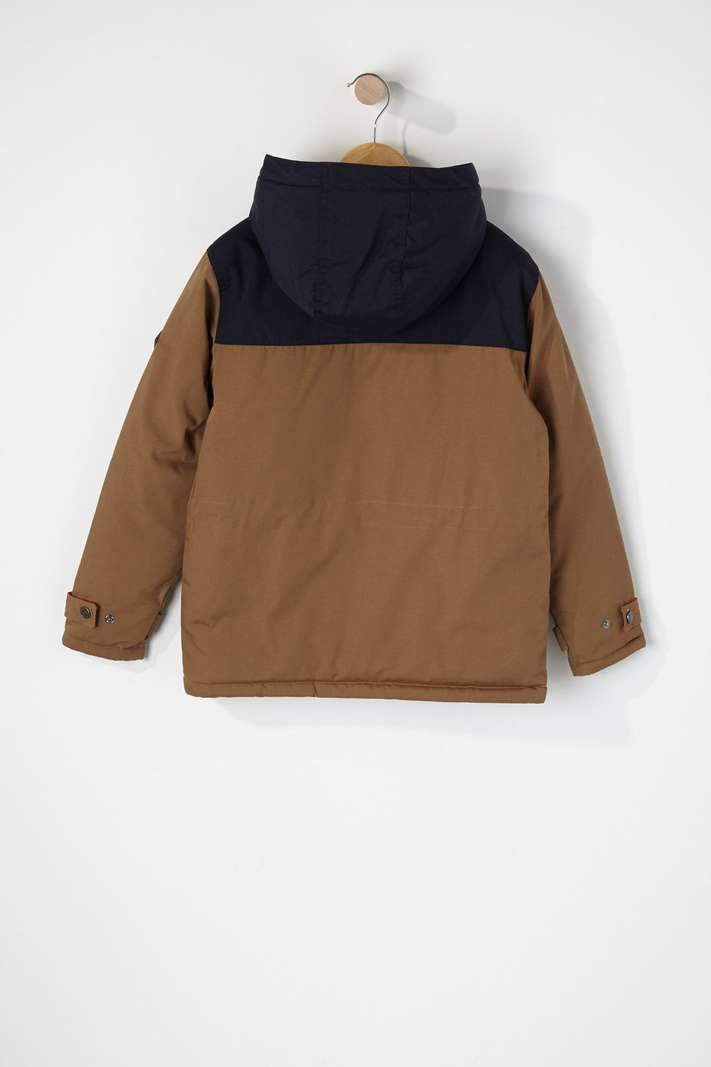 West49 Boys Colour Block 4-Pocket Parka Tan