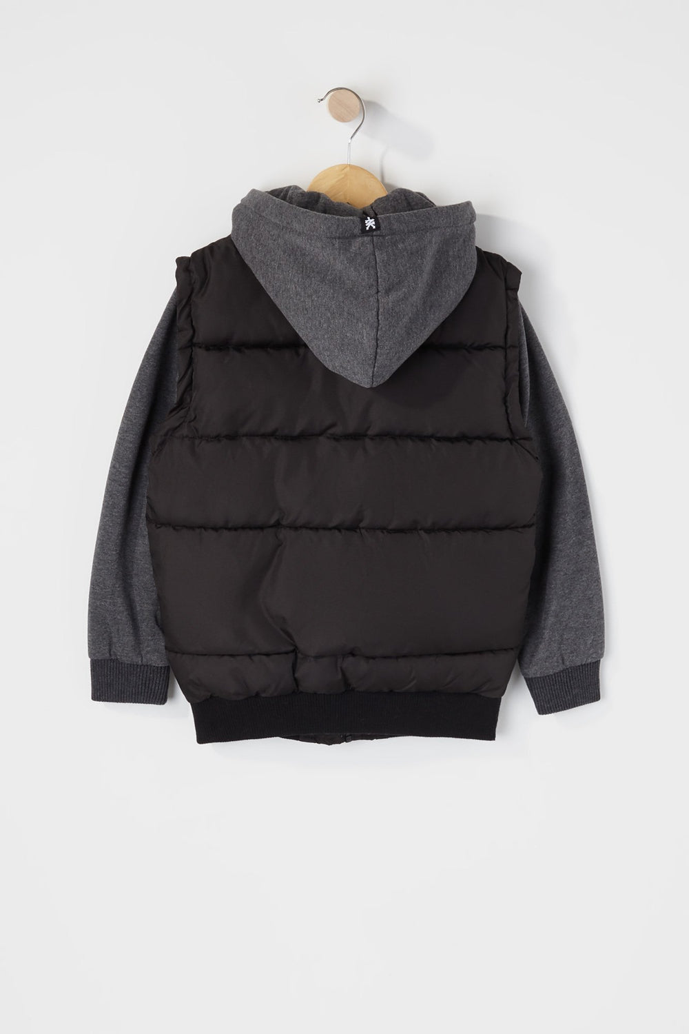 Zoo York Boys Hooded Puffer Vest Black