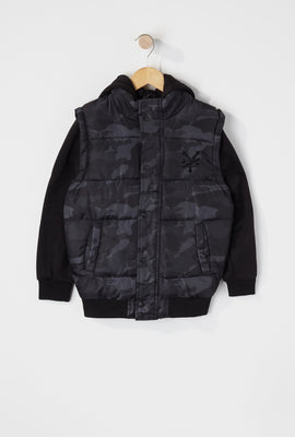 Zoo York Boys Hooded Puffer Vest