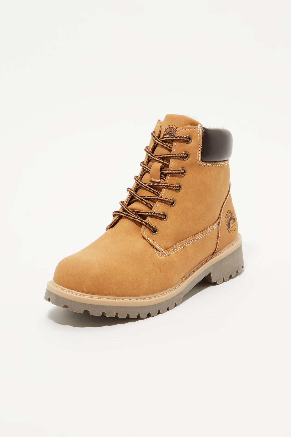 Storm Mountain Youth Faux-Fur Hiker Boots Tan