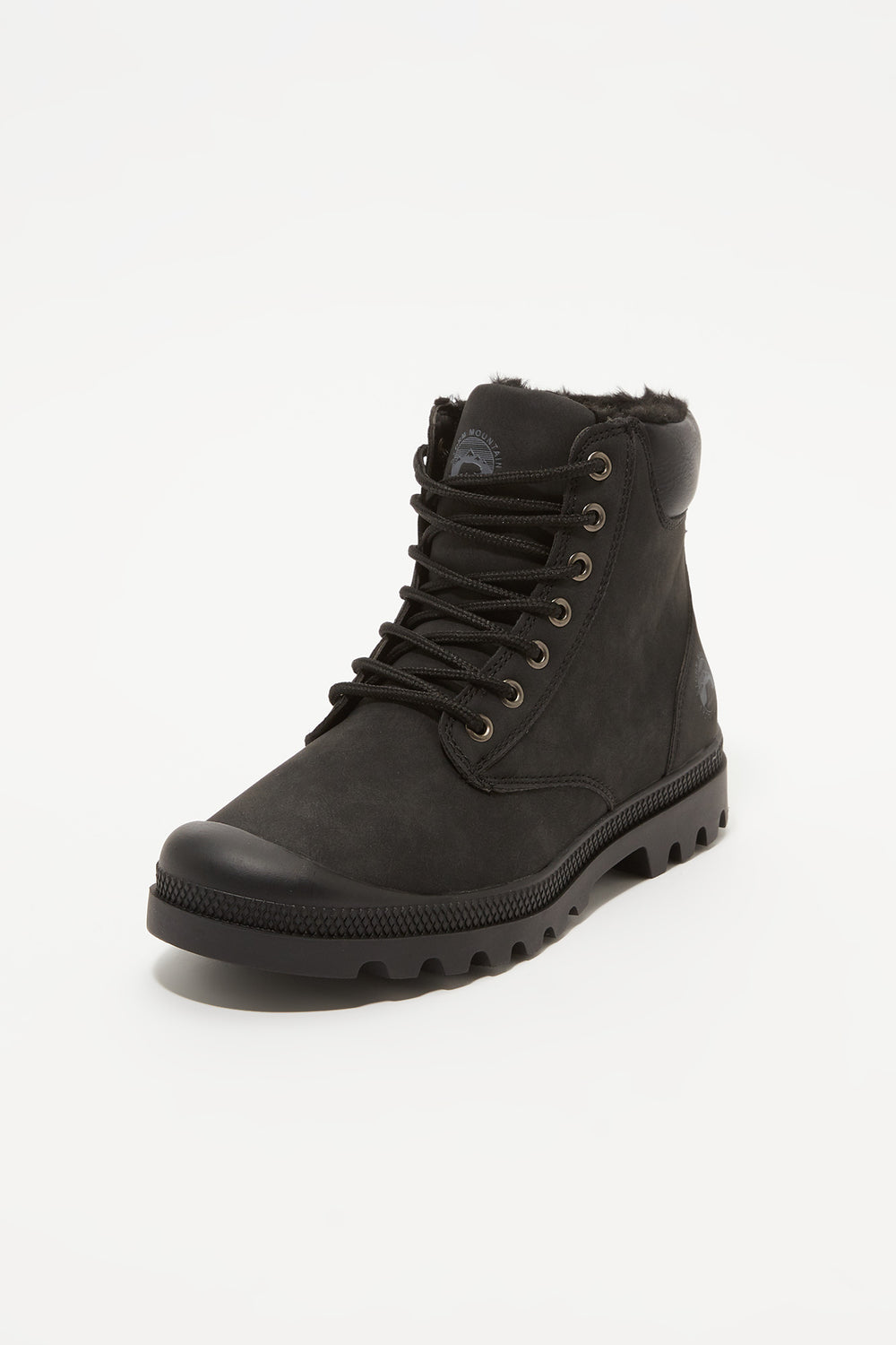 Storm Mountain Youth Faux-Fur Hiker Boots Black