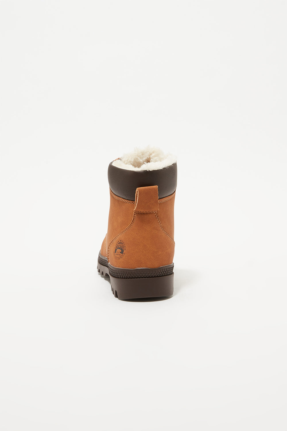 Storm Mountain Youth Faux-Fur Hiker Boots Camel