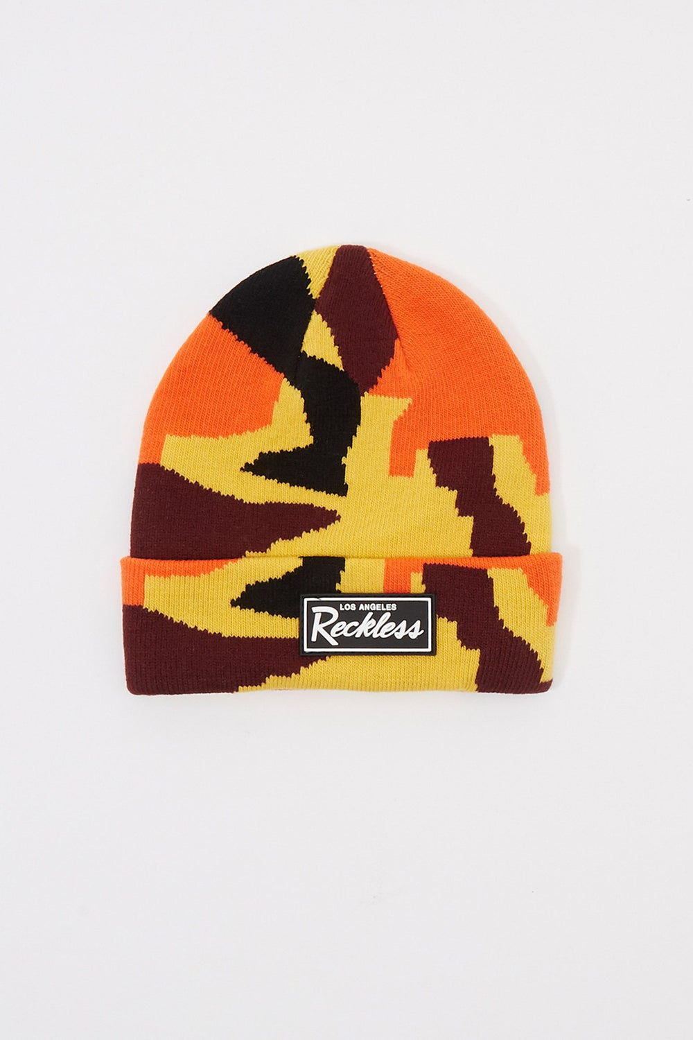 Young & Reckless Boys Camo Beanie Orange