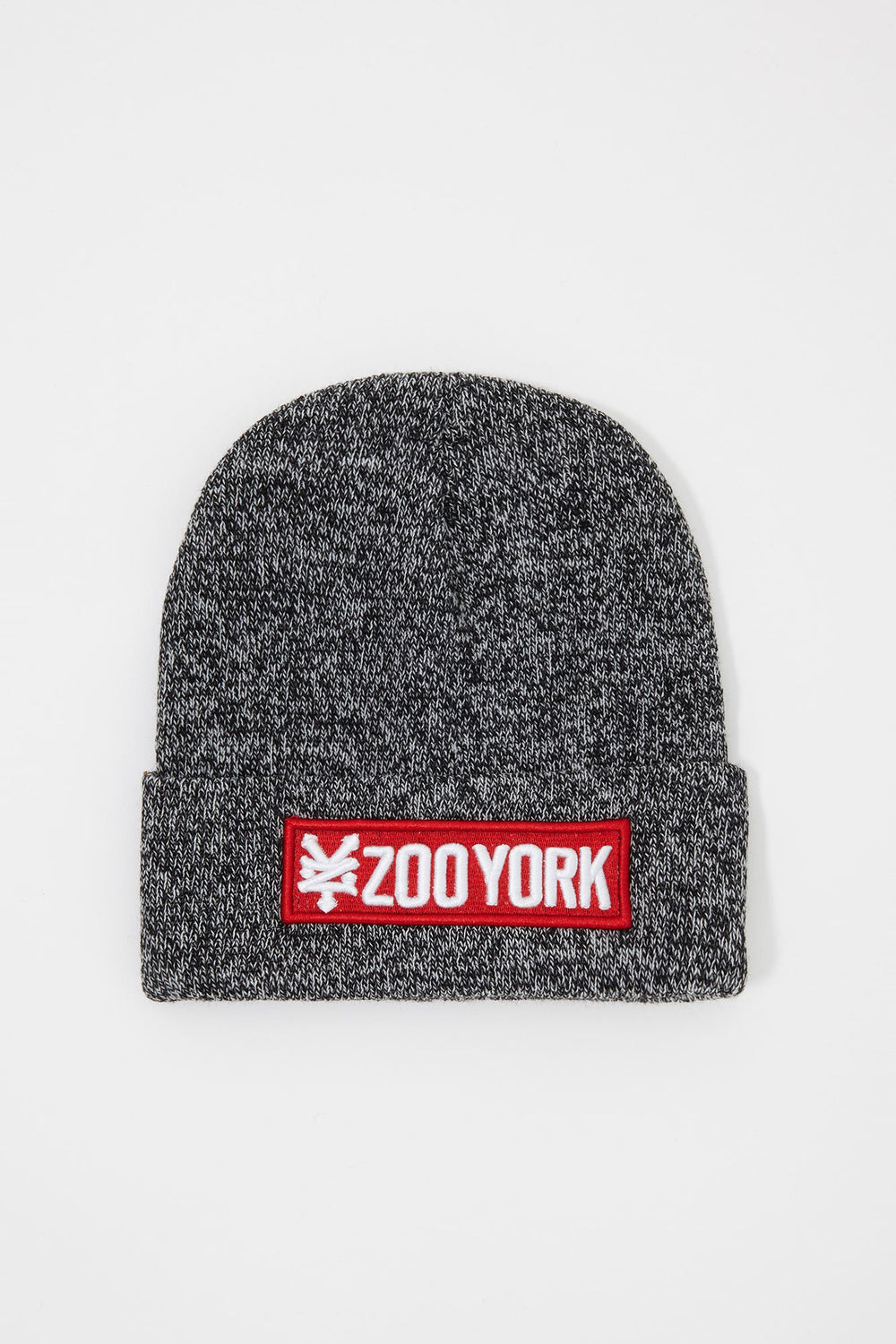 Zoo York Boys Red Box Patch Logo Beanie Black with White