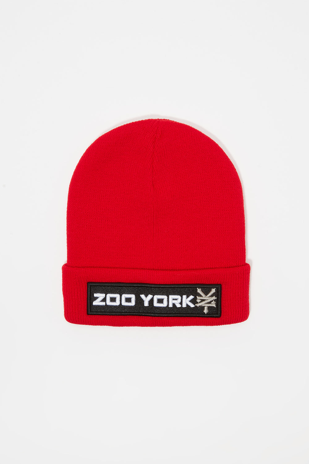 Tuque Logo Patch Zoo York Junior Rouge