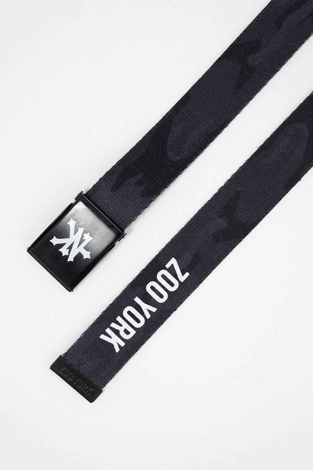 Zoo York Boys Dark Camo Cotton Belt Black