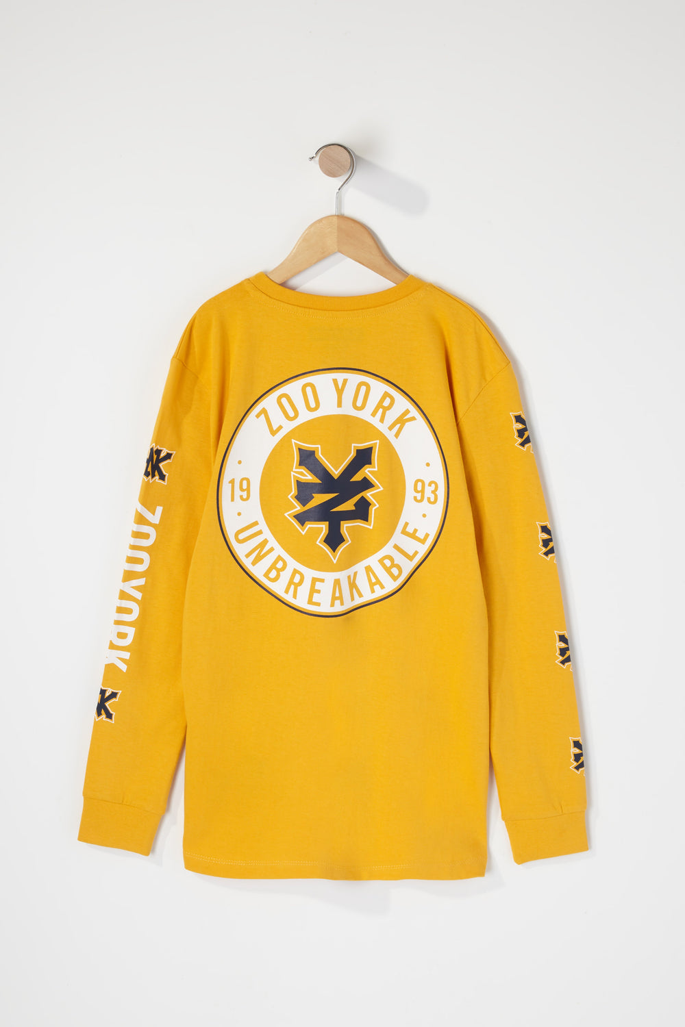 Zoo York Boys Classic Logo Long Sleeve Shirt Yellow