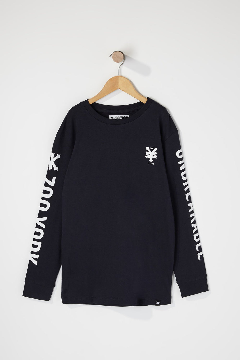 Zoo York Boys Unbreakable Logo Long Sleeve Shirt Navy