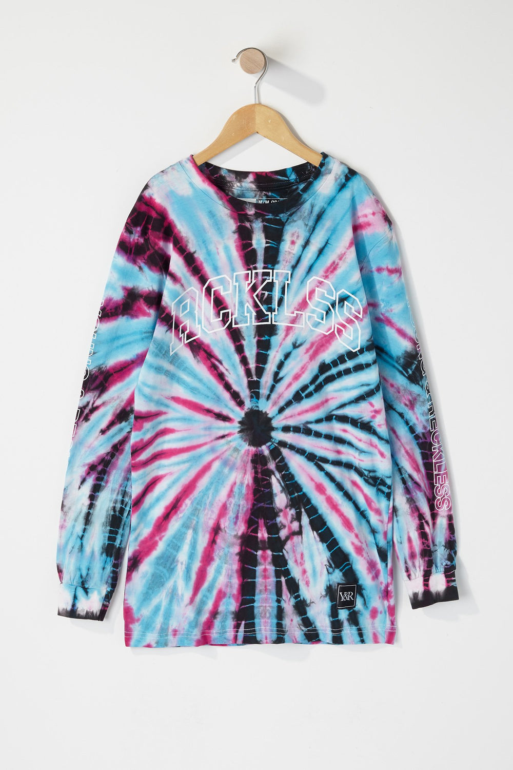Young & Reckless Boys Tie-Dye Long Sleeve Shirt Purple