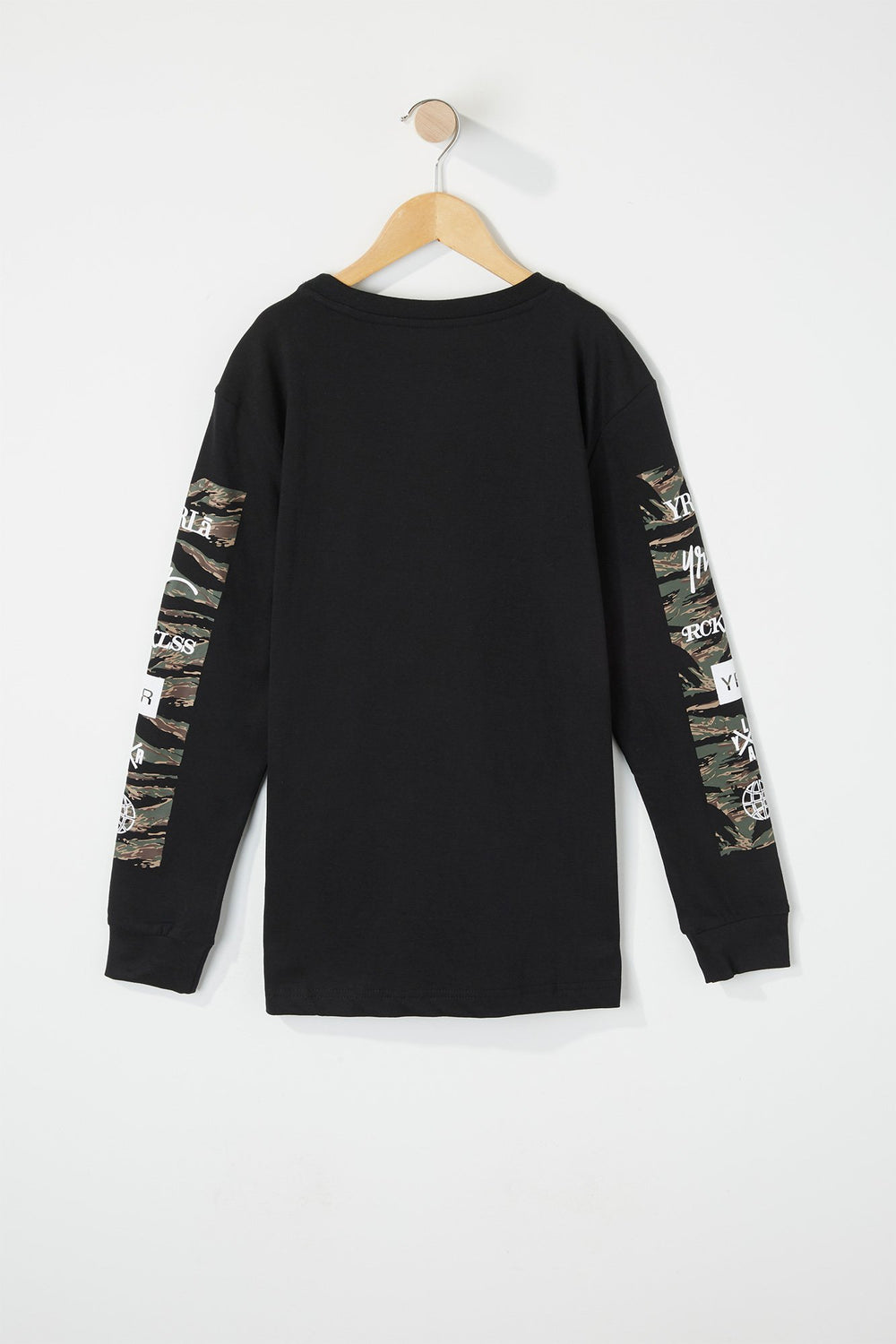 T-Shirt À Manches Longues Camouflage Young & Reckless Noir