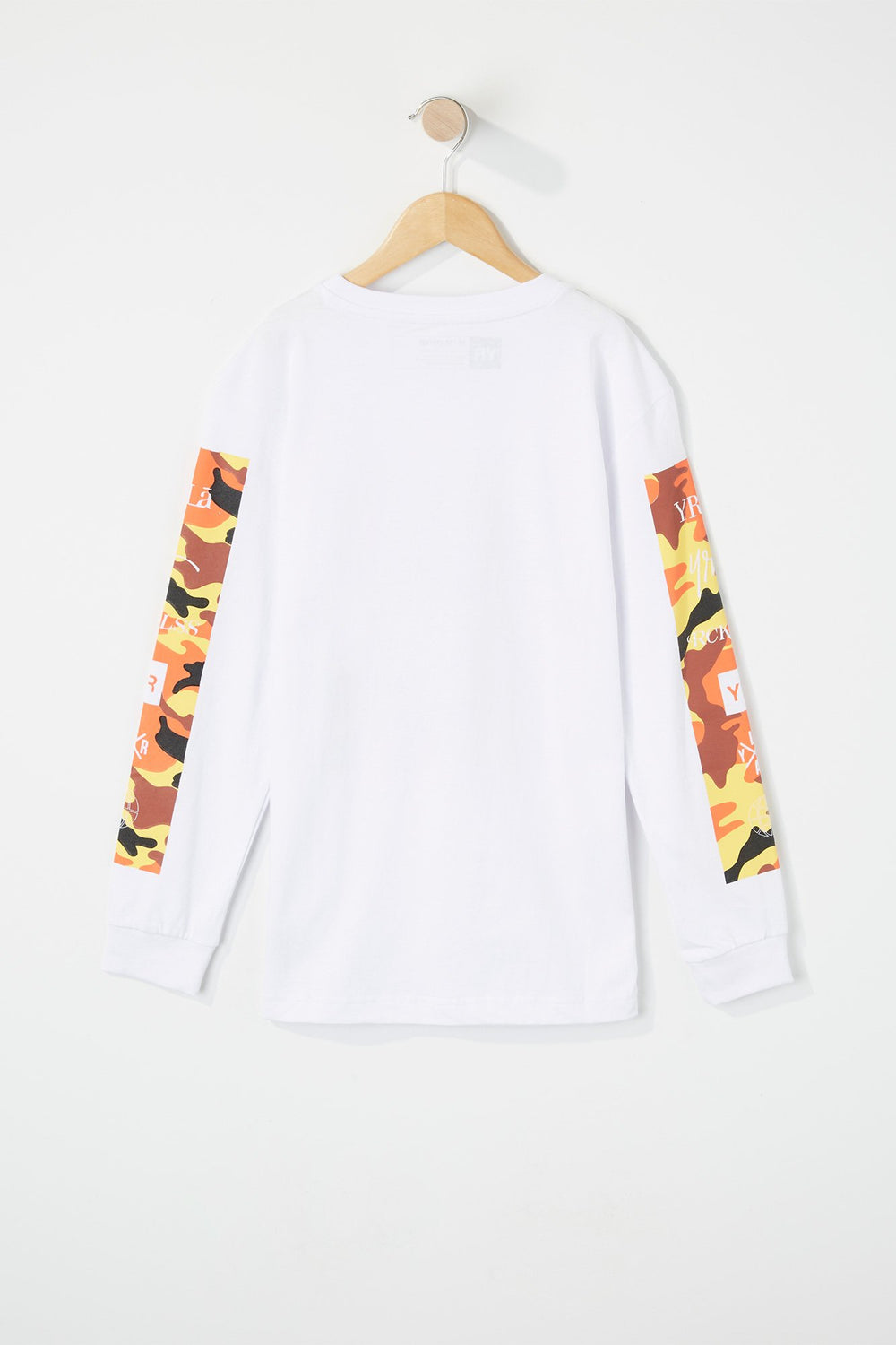 T-Shirt À Manches Longues Camouflage Young & Reckless Blanc