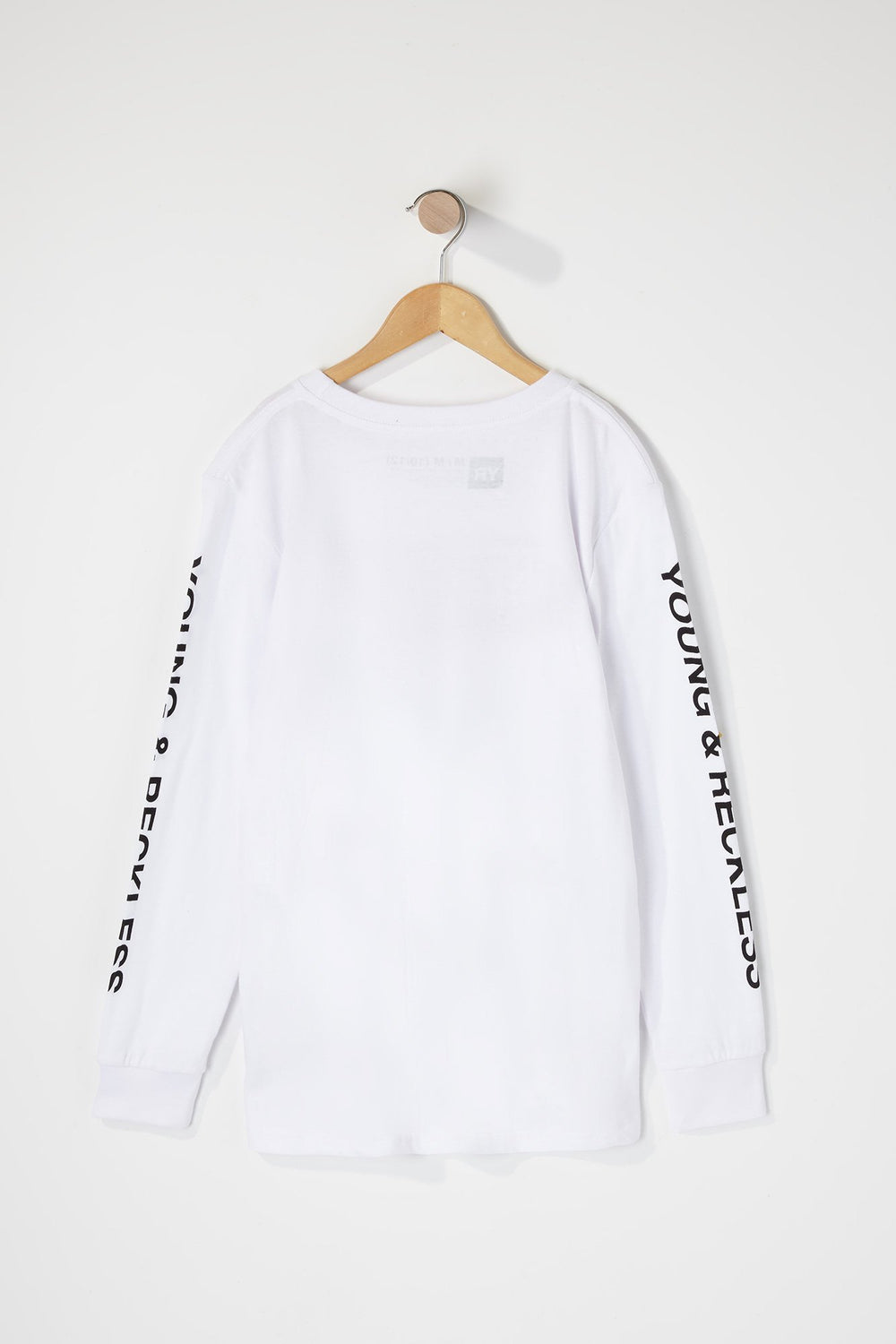 Young & Reckless Boys Red Box Logo Long Sleeve Shirt White