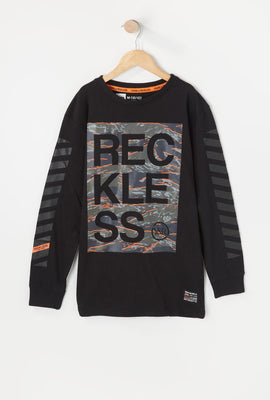 Manches Longues Logo Camouflage Young & Reckless Junior