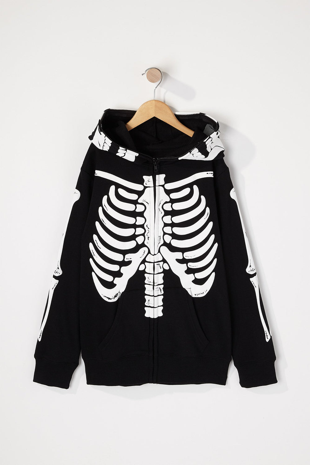 West49 Boys Skeleton Peeper Hoodie Black