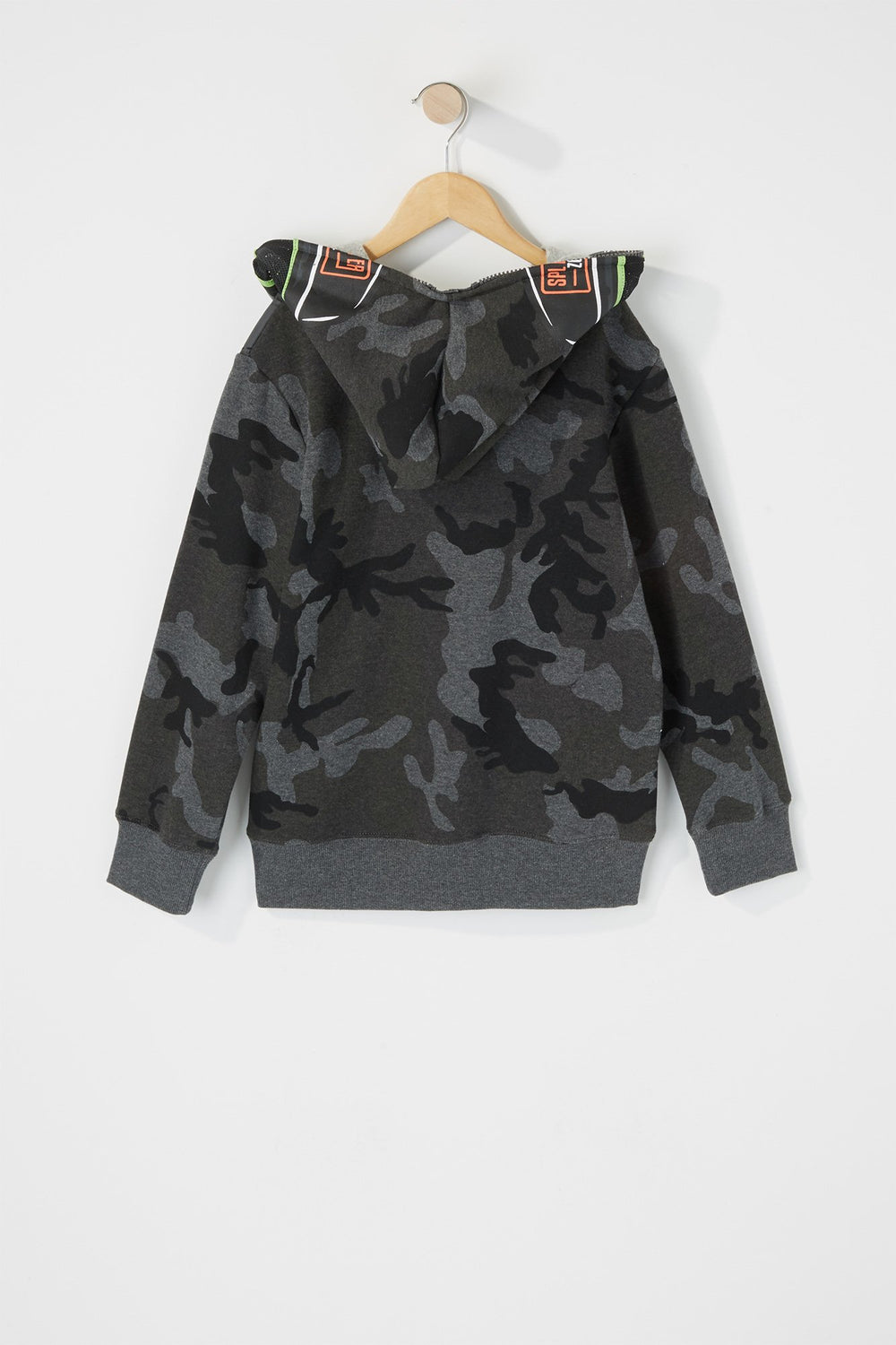 Camo Paintballer Hoodie Black with White