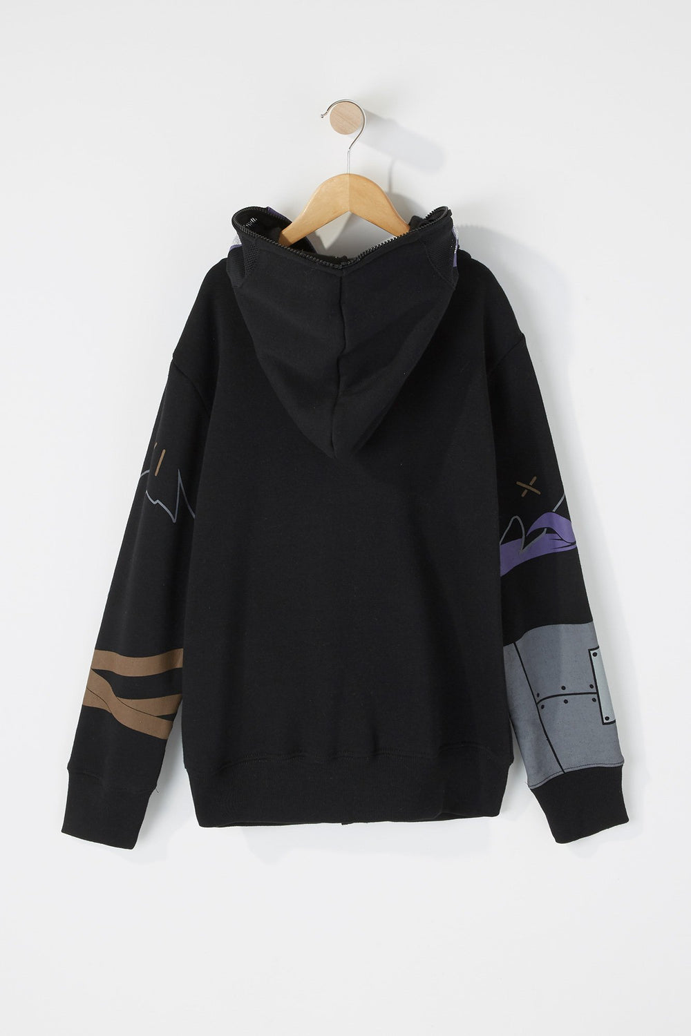 West49 Boys Warrior Peeper Hoodie Black