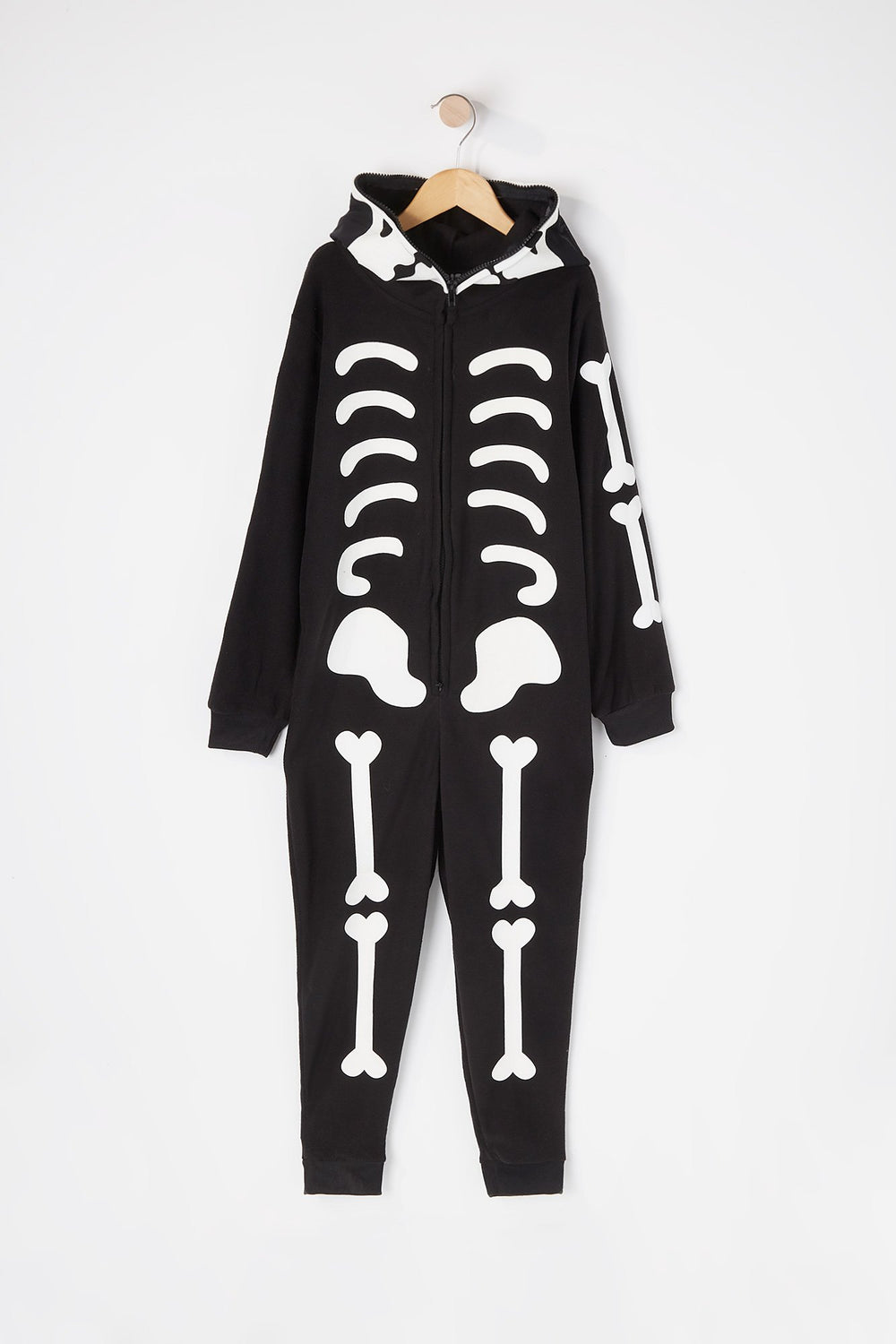 Youth Skeleton Onesie Black