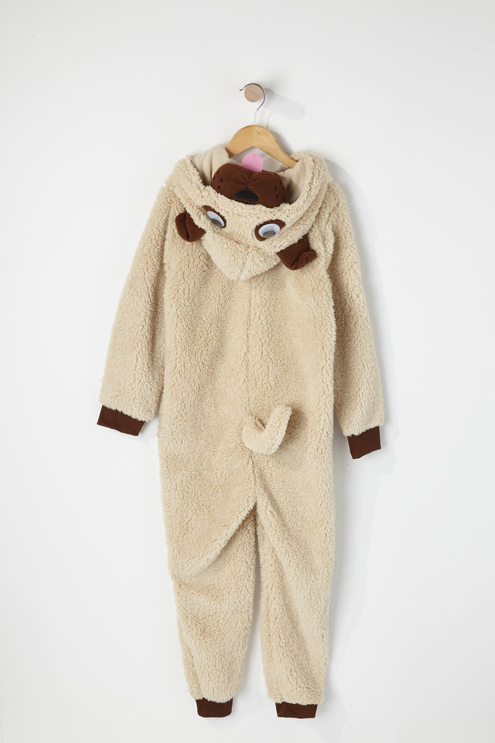 Youth Pug Onesie Beige
