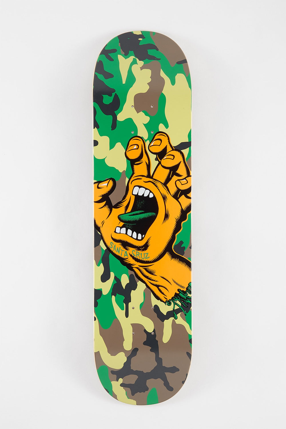 Santa Cruz Screaming Hand Camo Skateboard Deck Camouflage